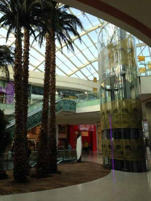 Morocco Mall Interior Palms