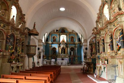 Yanque's church interior