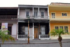 Iquique Baquedano Street Burned Building