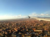 La Paz Bolivia Landing