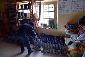 Potosi Mine Tour Preparation Boots