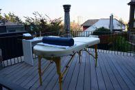 The Aubrey Santiago Pool Massage Table