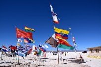 Uyuni Salt Flats Hotel Flags