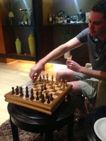 Chess board available for guests!