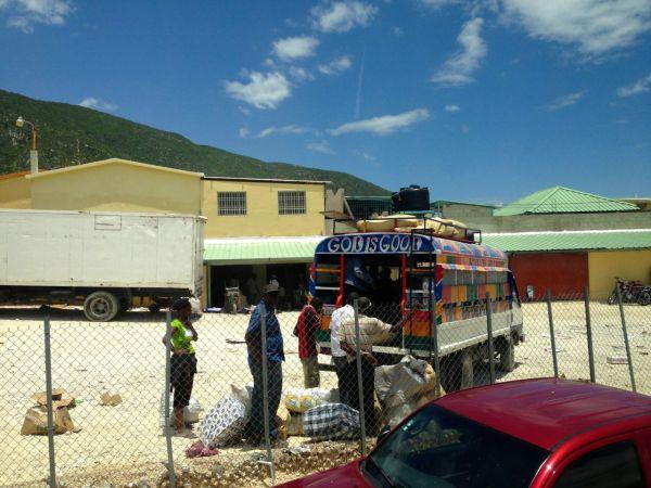Haiti Dominican Republic Border Bus People