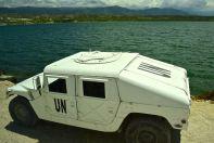Haiti Dominican Republic Border UN Humvee