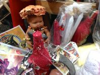 Iron Market Port-au-Prince Doll with Crab