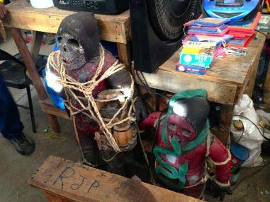 Iron Market Port-au-Prince Shrunken Head with Snake