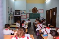 A peak into a Cuban school