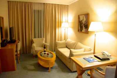 Asimina Suites Hotel Room Living Space