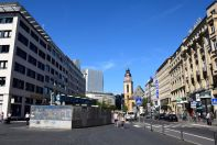 Frankfurt Saint Catherine's Church and Road
