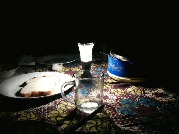 LED lit dinner.