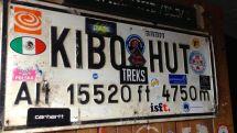 Kilimanjaro Kibo Hut Sign