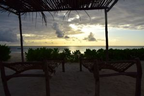 Sunset view from the resort