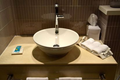 W Doha Wow Suite Guest Bathroom Sink