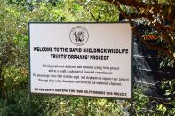 Nairobi The David Sheldrick Wildlife Trust Sign