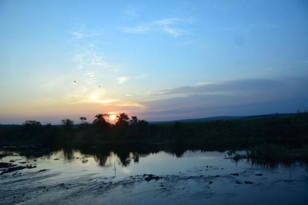 Sunset on the way to Kampala