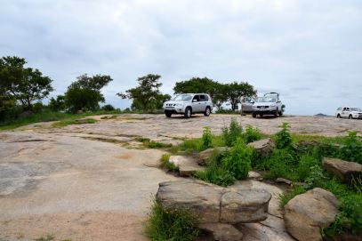 Our SUVs on at a viewpoint