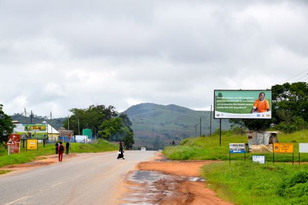 A road in Swaziland