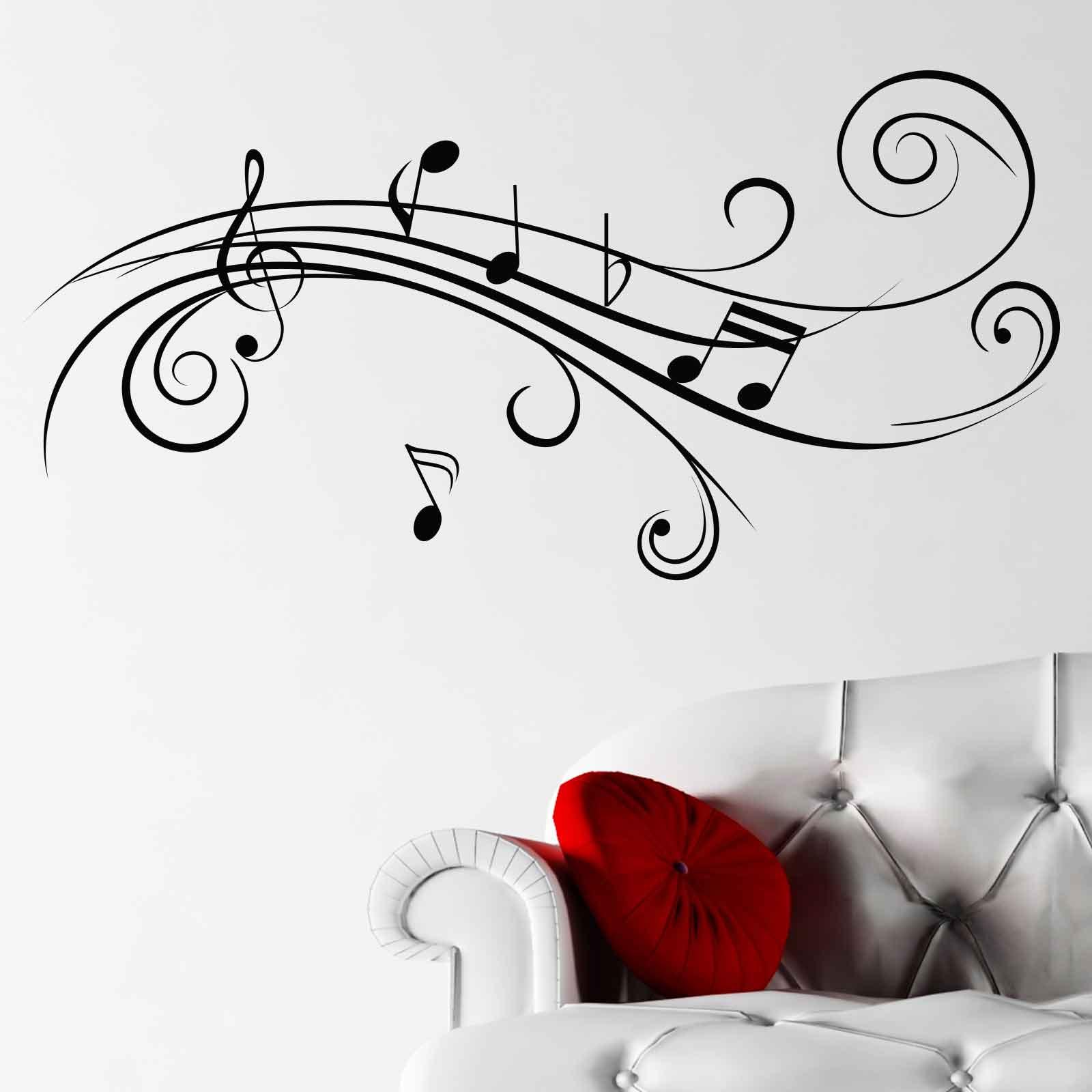 Cool Wall Decal Cool Musical Notes V2 Wall Sticker World Of Wall Stickers