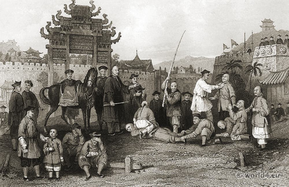 Chinese Sceneries In 19th Century Costume History