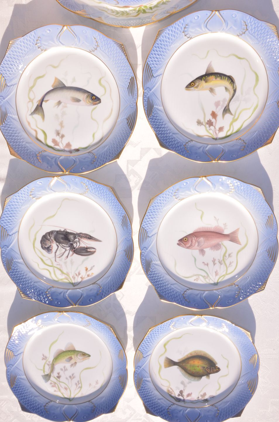 Royal Copenhagen Geschirr Worldantique Fish Service By Royal Copenhagen Fish Plates