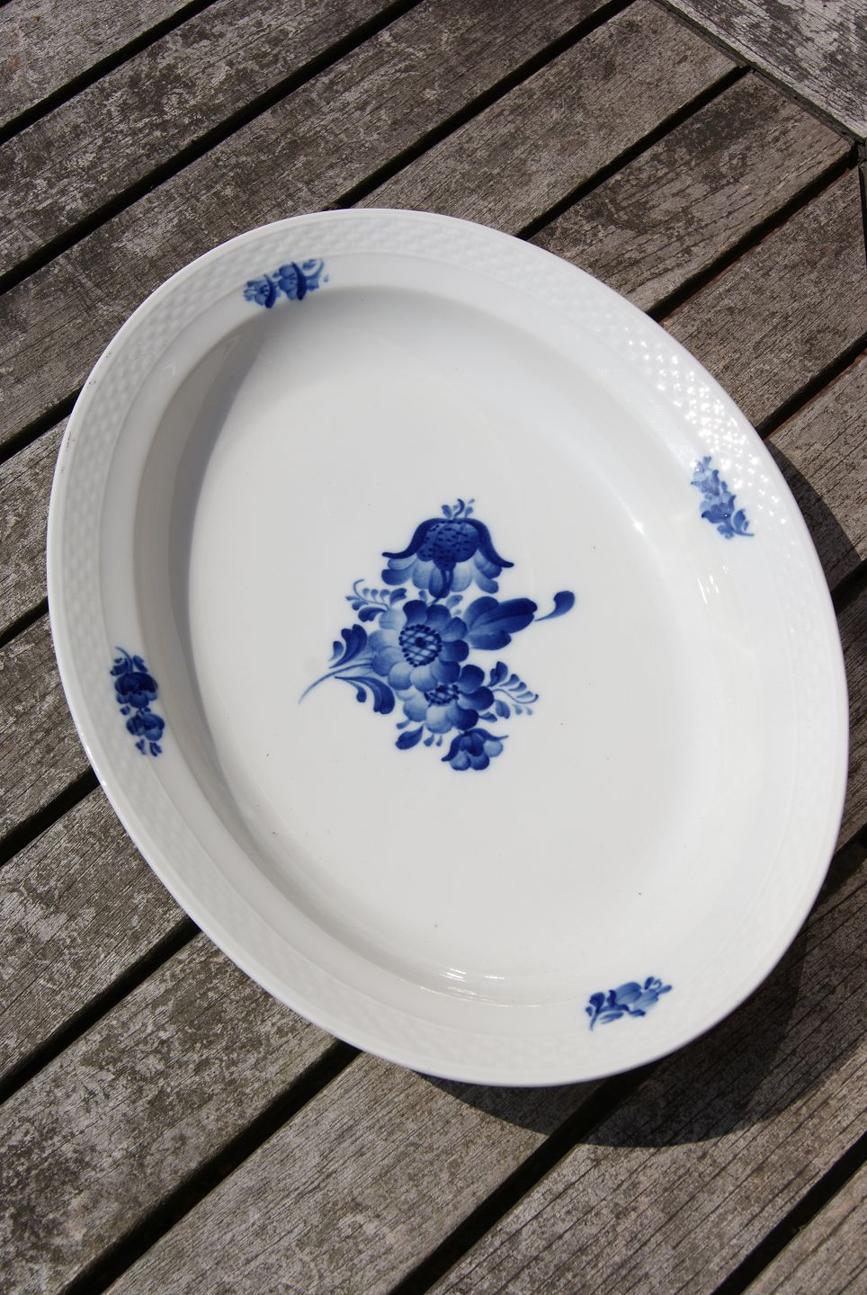 Royal Copenhagen Geschirr Blue Flower Plain Danish Porcelain Oval Serving Dish 33 5cm