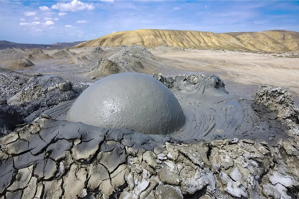 Deep Plate What Is A Mud Volcano? - Worldatlas.com