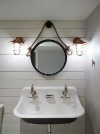 Nautical bathroom mirror: special aspects of the sea style ...