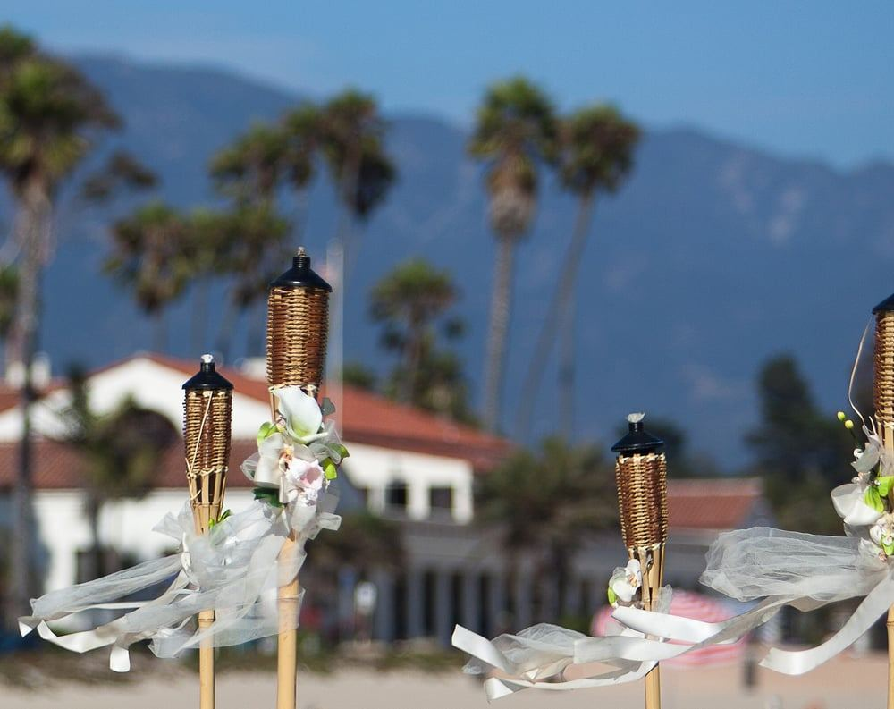 Cabrio Pavillon Cabrillo Pavilion Arts Center Santa Barbara California Wedding