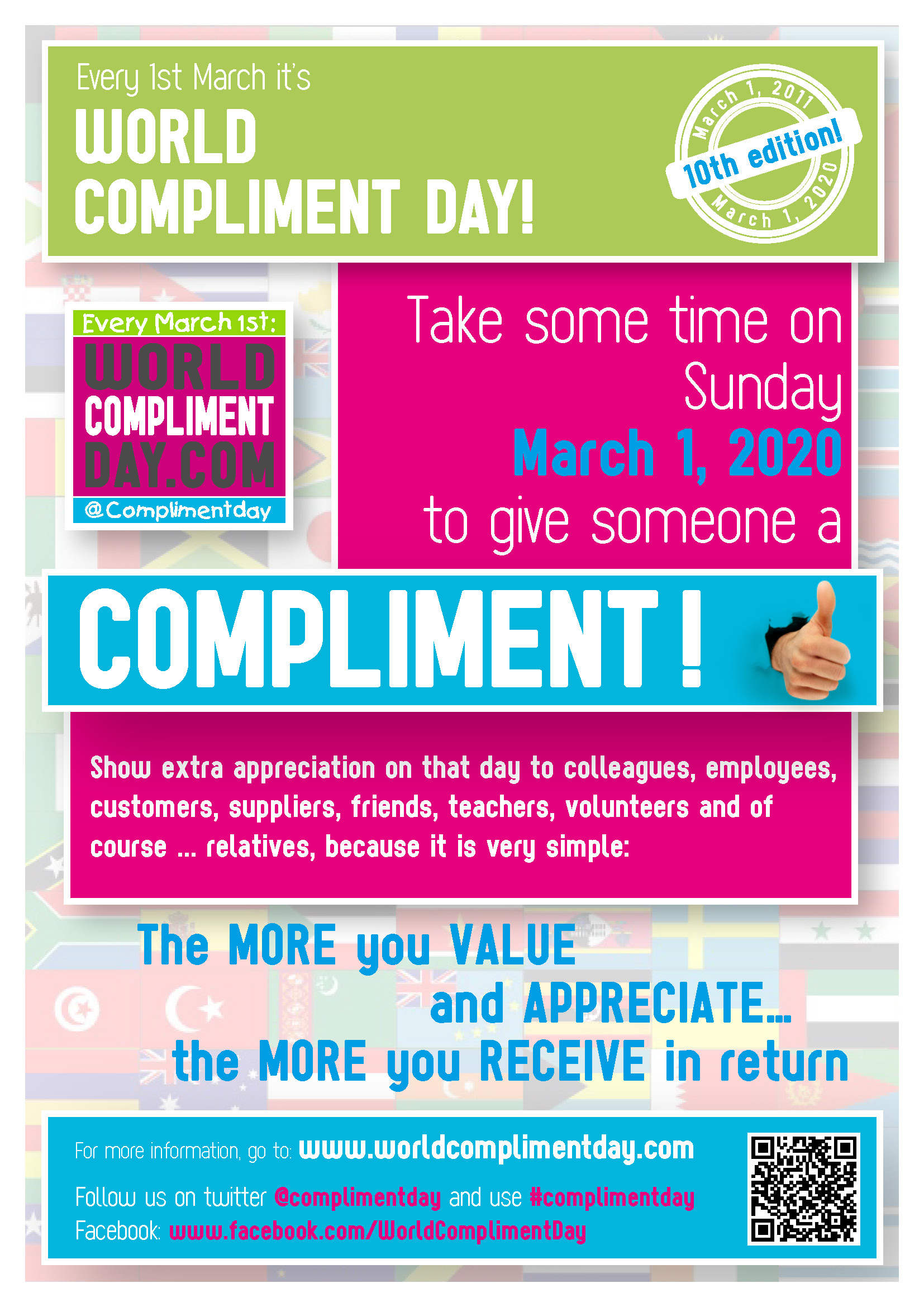 Poster Of The World World Compliment Day