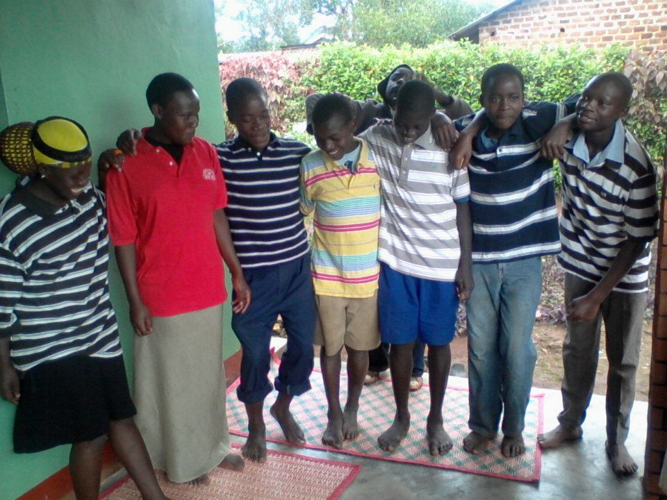 CESO BOYS IN THEIR NEW CLOTHES DONATED TO THEM