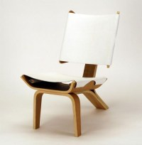 Stylish Curved Chair Design Made Of Bent Plywood And ...