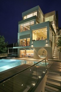 Amazing House Design in Athens with Futuristic Interior ...