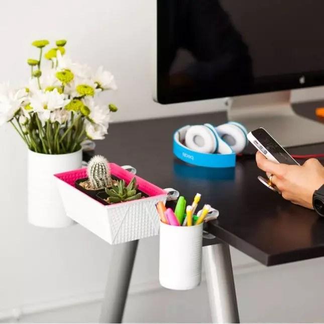 Easy Desk Organization Ideas home office diy desk organization - hanging office organization
