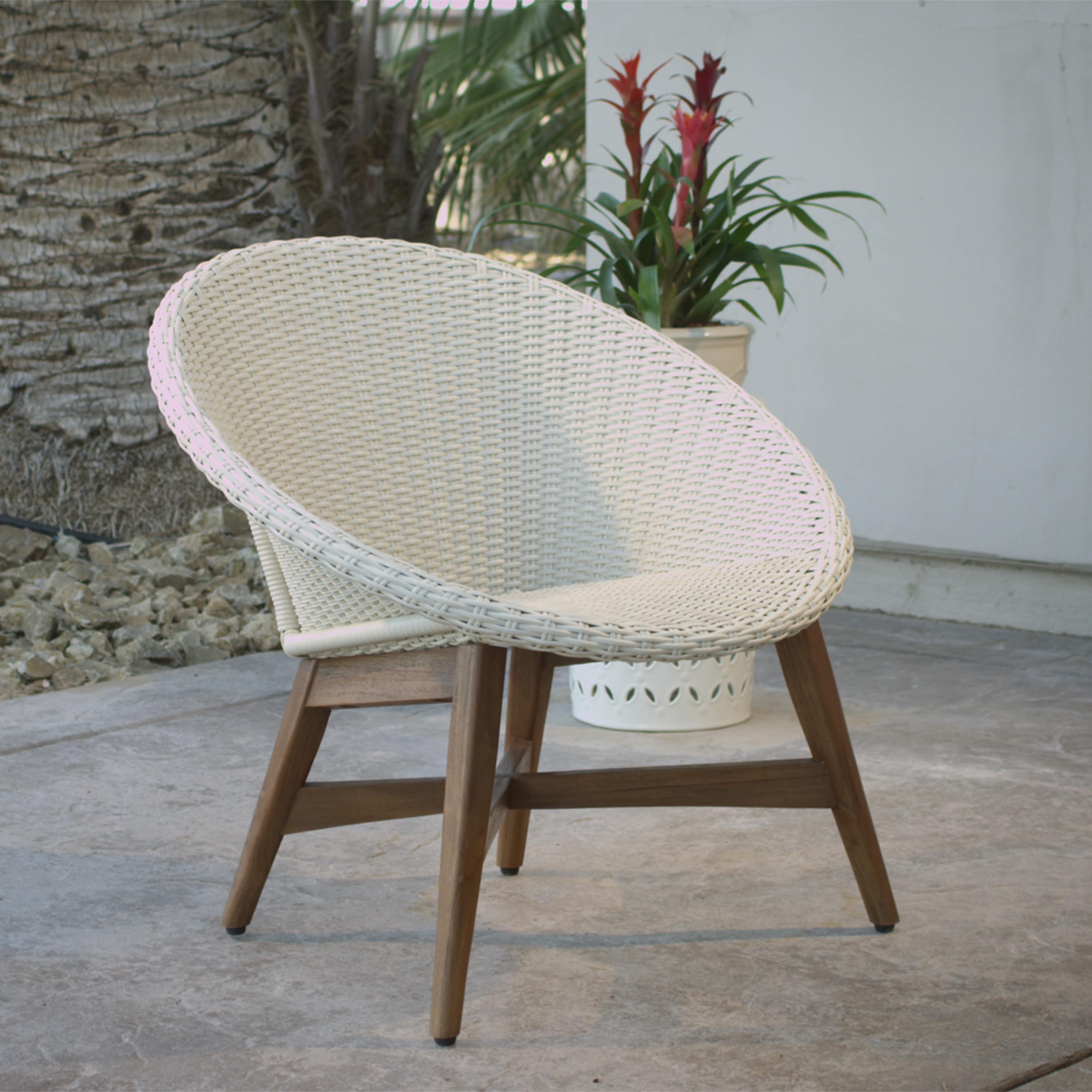 Round Outdoor Chair Round All Weather Wicker Vernazza Chairs Set Of 2 World