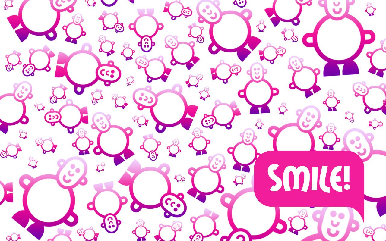 SMILE Smileyman Pattern Wallpaper Designs