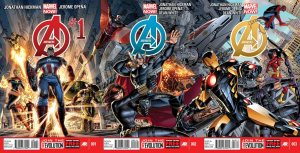 Avengers 1-3 hickman poster