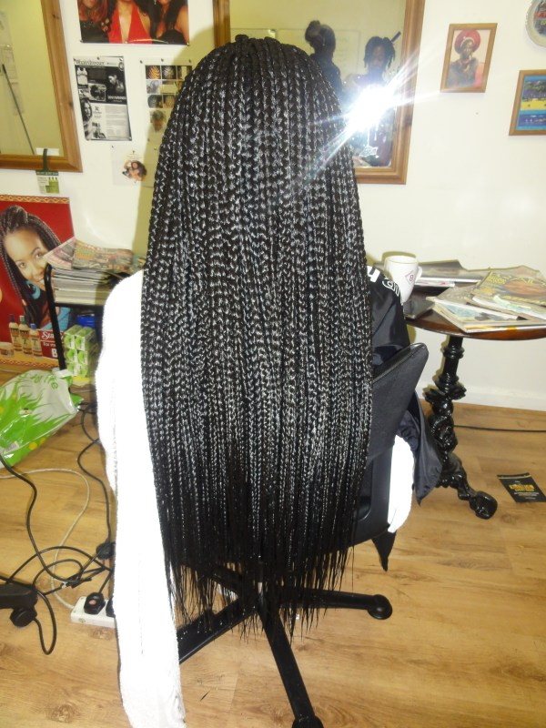 Jumbo Braids Back view. 2736 x 3648.African Jumbo Braids Hairstyles