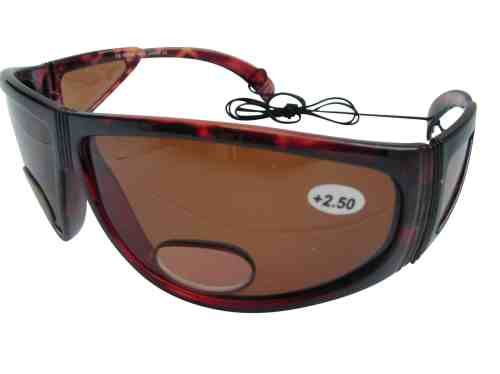 Darth Polarised Bifocal Fishing Sunglasses in Amber