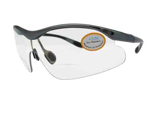 Speedy Sports Bifocal Reading Glasses in Grey