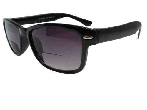 Wayfarer Bifocal Sunglasses in Black
