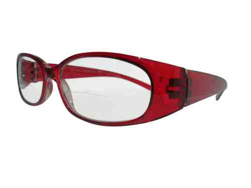Reina Bifocal Reading Glasses in Ruby