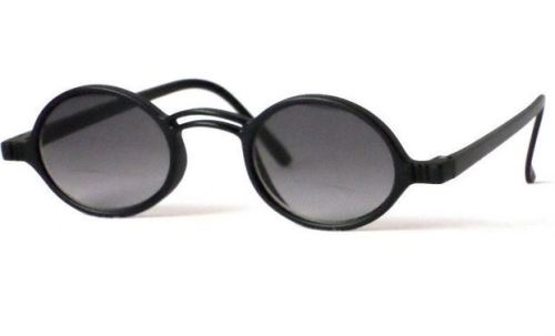 Geek Keyhole Bifocal Sunglasses in Black