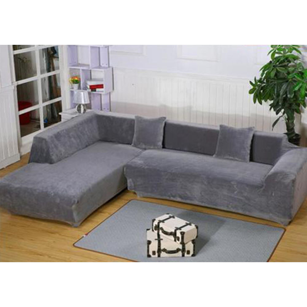 Quality Sofa Covers Details About L Shape Design Stretch Sofa Cover Sectional Corner Couch Elastic Fabric Covers