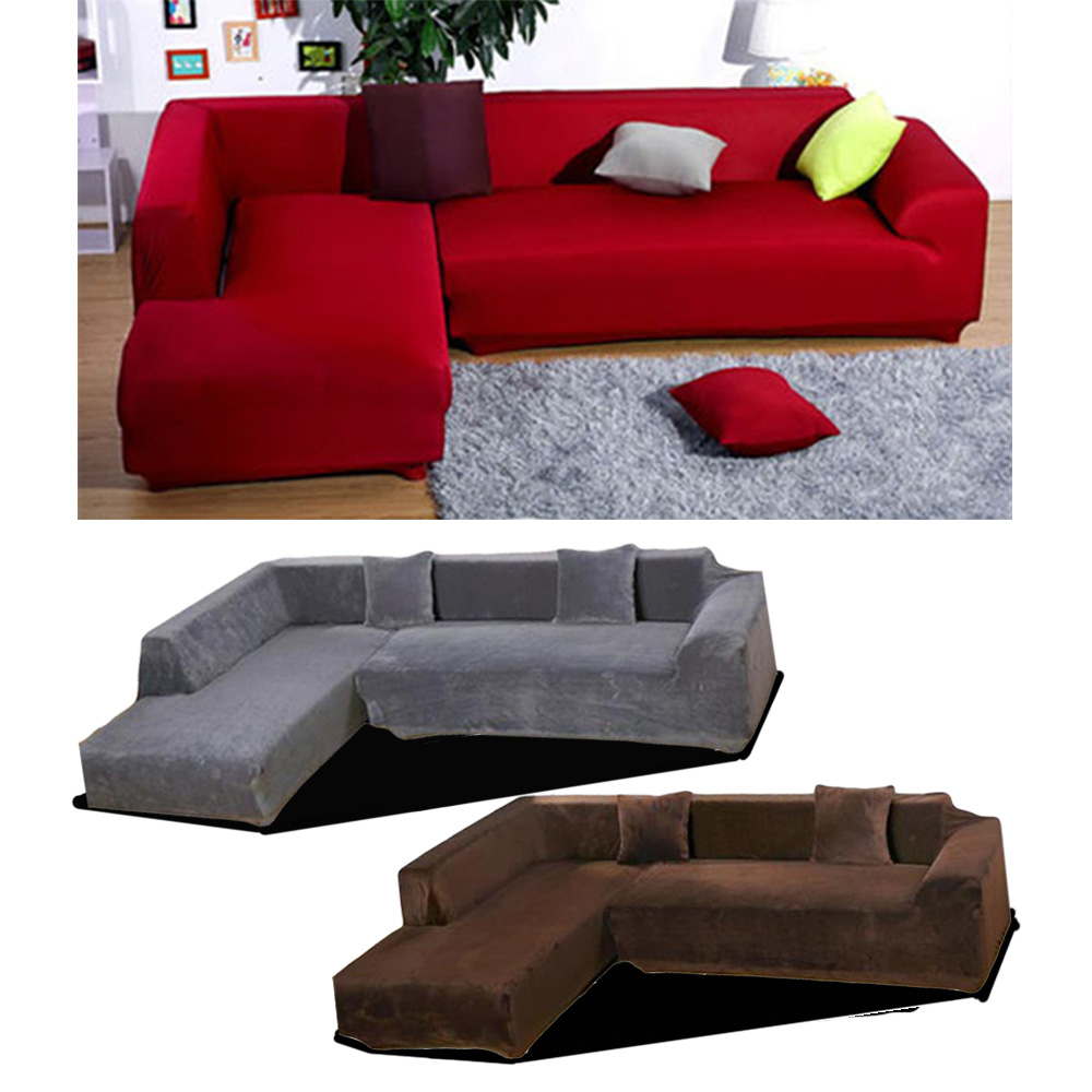 Sofa L 2 X 2 Details About New Modern Design Sofa Cover L Shape Style Stretch Elastic Slipcover Cover Decor