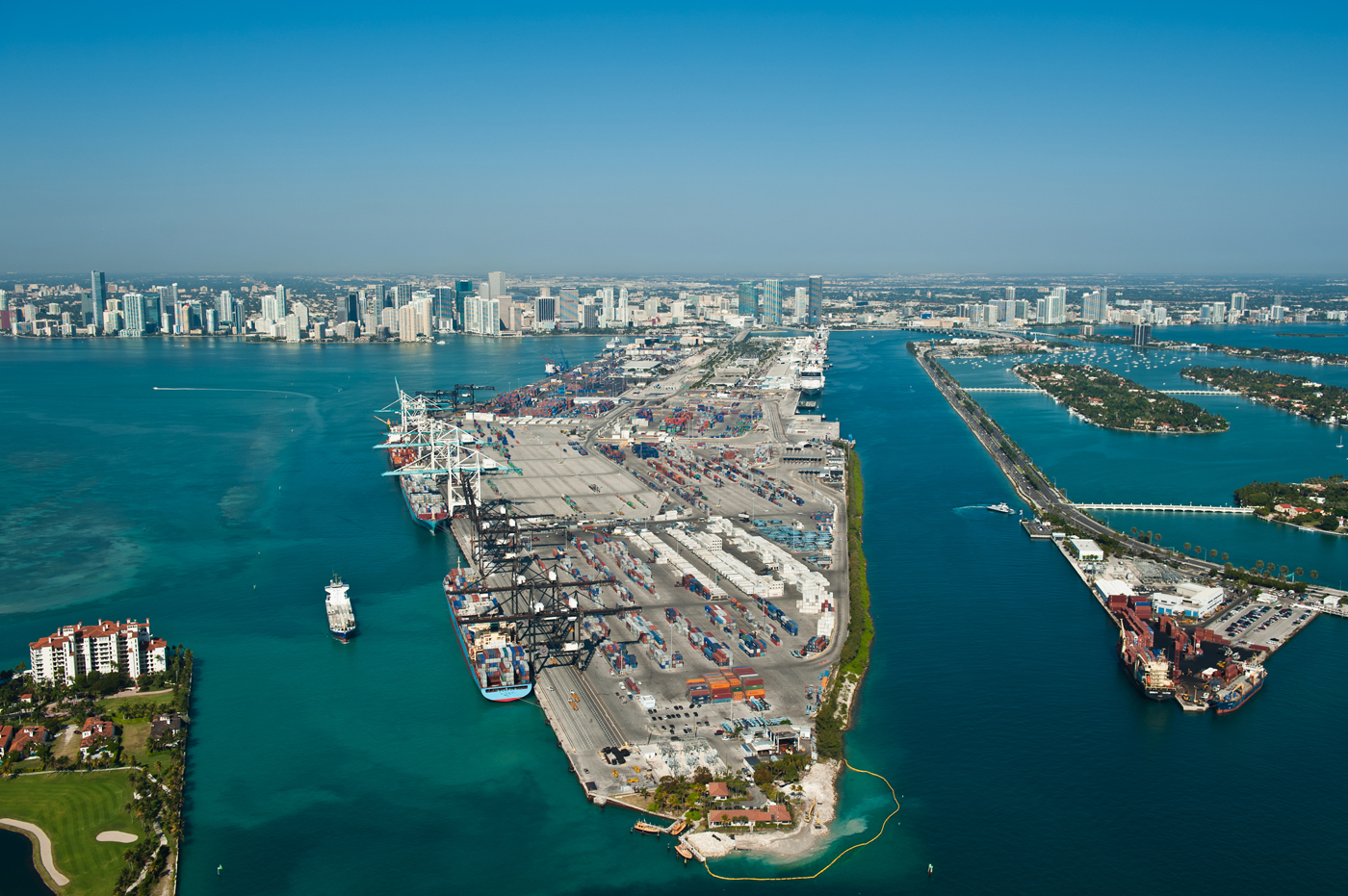 Miami Port Florida Benefits From New Colombia Panama And South Korea Free