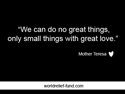 25 Best Inspirational Charity Quotes - World Relief Fund - Charity