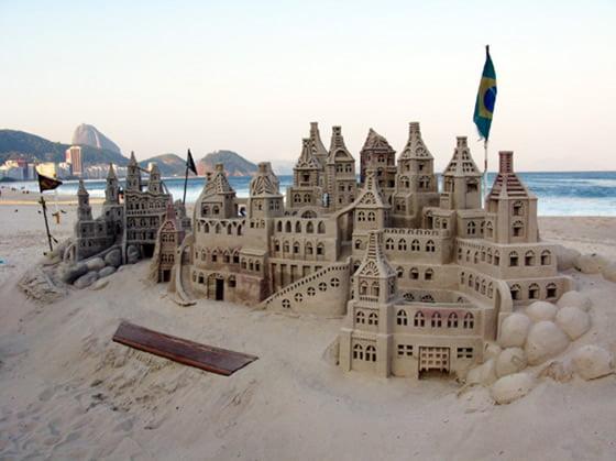 Copacabana Beach - Sand Sculptures - Rio de Janeiro