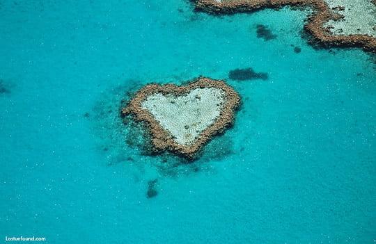Heart-shaped Reef Australia